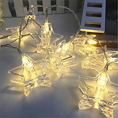 preiswerte LED Lichtstreifen-3M Leuchtgirlanden 20 LEDs Warmes Weiß / RGB Dekorativ Batterien angetrieben 1pc