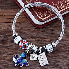 preiswerte Armbänder-Damen Mehrschichtig Bettelarmbänder - Fische Europäisch, Modisch, nette Art Armbänder Rot / Blau Für Party