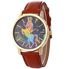 お買い得  レディース腕時計-Xu™ 女性用 ドレスウォッチ / リストウォッチ 中国 クリエイティブ / カジュアルウォッチ / 大きめ文字盤 PU バンド カトゥーン / ファッション ブラック / 白 / ブルー / 1年間