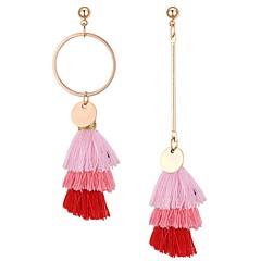 preiswerte Ohrringe-Damen Nicht übereinstimmend Unterschiedliche Ohrringe - damas Retro Ethnisch Modisch Schmuck Gelb / Rot / Rosa Für Party / Abend Geburtstag 1 Paar