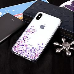 Недорогие Кейсы для iPhone-Кейс для Назначение Apple iPhone X / iPhone 8 IMD / Прозрачный / С узором Кейс на заднюю панель Цветы Мягкий ТПУ для iPhone X / iPhone 8 Pluss / iPhone 8