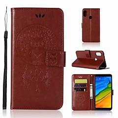 Недорогие Чехлы и кейсы для Xiaomi-Кейс для Назначение Xiaomi Redmi S2 Кошелек / Бумажник для карт / со стендом Чехол Сова Твердый Кожа PU для Xiaomi Redmi S2