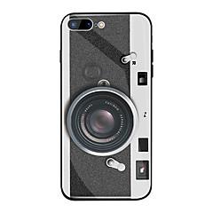 Недорогие Кейсы для iPhone X-Кейс для Назначение Apple iPhone X / iPhone 8 Plus Зеркальная поверхность / С узором Кейс на заднюю панель Мультипликация Твердый ТПУ / Закаленное стекло для iPhone X / iPhone 8 Pluss / iPhone 8