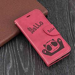 Недорогие Кейсы для iPhone-Кейс для Назначение Apple iPhone X / iPhone 8 Plus Кошелек / Бумажник для карт / со стендом Чехол Панда Твердый Кожа PU для iPhone X / iPhone 8 Pluss / iPhone 8