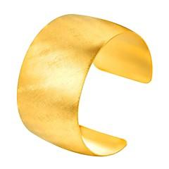 preiswerte Armbänder-Damen Hohl Manschetten-Armbänder - Edelstahl Modisch Armbänder Gold / Schwarz / Silber Für Geschenk / Alltag
