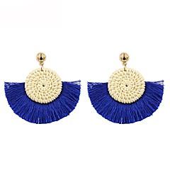 preiswerte Ohrringe-Damen Quaste Tropfen-Ohrringe - Gewebe Quaste, Böhmische Rot / Blau / Rosa Für Geschenk / Alltag