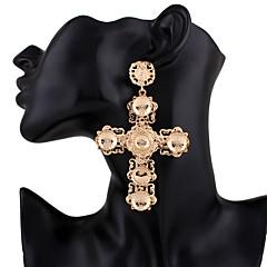お買い得  イヤリング-女性用 ロング丈 ドロップイヤリング  -  十字架 トレンディー, 誇張 ゴールド 用途 パーティー/フォーマル / 贈り物