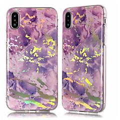 Недорогие Кейсы для iPhone 5-Кейс для Назначение Apple iPhone X / iPhone 8 Plus Покрытие / IMD / С узором Кейс на заднюю панель Мрамор Мягкий ТПУ для iPhone X / iPhone 8 Pluss / iPhone 8
