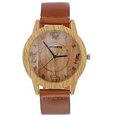 お買い得  レディース腕時計-Xu™ 女性用 ドレスウォッチ / リストウォッチ 中国 クリエイティブ / カジュアルウォッチ / 大きめ文字盤 PU バンド ヴィンテージ / ファッション ブラック / ブラウン / チョコレート / 1年間