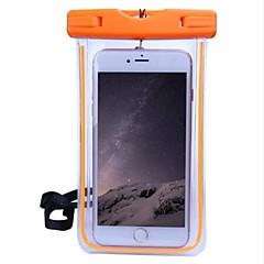 Недорогие Кейсы для iPhone 4s / 4-Кейс для Назначение Apple Универсальный Водонепроницаемый / Прозрачный Мешочек Однотонный Мягкий ПК для iPhone X / iPhone 8 / iPhone 7