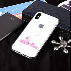 Недорогие Кейсы для iPhone-Кейс для Назначение Apple iPhone X / iPhone 8 IMD / Прозрачный / С узором Кейс на заднюю панель Животное Мягкий ТПУ для iPhone X / iPhone 8 Pluss / iPhone 8