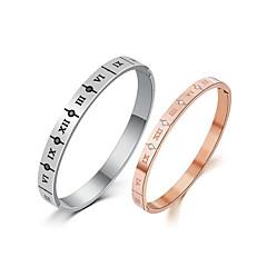 abordables Bijoux pour Femme-Homme Zircon Bracelets Rigides - Or rose simple, Coréen, Mode Bracelet Argent / Or Rose Pour Quotidien Rendez-vous