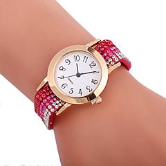 preiswerte Damenuhren-Xu™ Damen Kleideruhr / Armbanduhr Chinesisch Kreativ / Armbanduhren für den Alltag / Imitation Diamant PU Band Modisch / Elegant Schwarz / Weiß / Blau