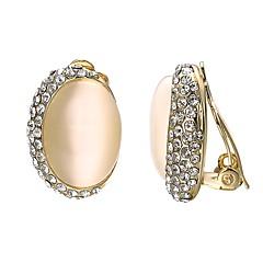 preiswerte Ohrringe-Damen Kristall Klips - vergoldet Böhmische, Süß Gold Für Party Geschenk