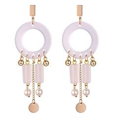 preiswerte Ohrringe-Damen Synthetischer Tansanit Lang Tropfen-Ohrringe - Künstliche Perle Retro, Ethnisch, Modisch Gold Für Party Geburtstag