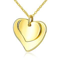 preiswerte Halsketten-Damen Anhängerketten  -  vergoldet Herz Modisch Gold 45 cm Modische Halsketten 1pc Für Geschenk, Alltag
