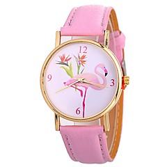 お買い得  レディース腕時計-Xu™ 女性用 リストウォッチ 中国 クリエイティブ / かわいい / 大きめ文字盤 PU バンド ファッション / ミニマリスト ブラック / 白 / ブルー