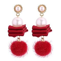 preiswerte Ohrringe-Damen Perle Tropfen-Ohrringe - Künstliche Perle Retro, Modisch Grau / Rot / Königsblau Für Party / Abend Geburtstag