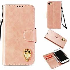 Недорогие Кейсы для iPhone 7-Кейс для Назначение Apple iPhone 8 / iPhone 7 Кошелек / Бумажник для карт / со стендом Чехол Сова Твердый Кожа PU для iPhone 8 / iPhone 7