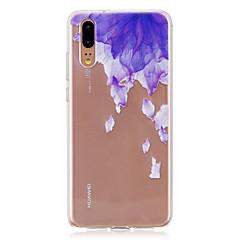 お買い得  Huawei Pシリーズケース/ カバー-ケース 用途 Huawei P20 / P20 lite 半透明 バックカバー フラワー ソフト TPU のために Huawei P20 / Huawei P20 Pro / Huawei P20 lite