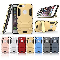 Недорогие Кейсы для iPhone-Кейс для Назначение Apple iPhone 8 Plus со стендом Кейс на заднюю панель Однотонный Твердый ПК для iPhone 8 Pluss