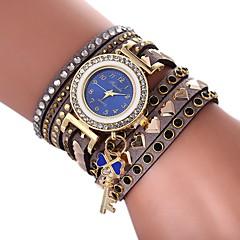 preiswerte Damenuhren-Damen Armbanduhr Chinesisch Chronograph / Kreativ / lieblich PU Band Böhmische / Armreif Schwarz / Weiß / Rot