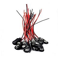 abordables Conectores y Terminales-20pcs 9v mecanografía el conector rápido de batería conector de clips de batería de 9 voltios