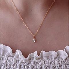 preiswerte Halsketten-Damen Kristall Anhängerketten / Ketten - Zierlich, Klassisch, Retro Gold 40 cm Modische Halsketten 1pc Für Alltag, Büro & Karriere