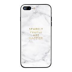 Недорогие Кейсы для iPhone X-Кейс для Назначение Apple iPhone X / iPhone 8 Plus Зеркальная поверхность Кейс на заднюю панель Слова / выражения / Мрамор Твердый Закаленное стекло для iPhone X / iPhone 8 Pluss / iPhone 8