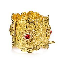 preiswerte Armbänder-Damen Mehrschichtig Armreife Manschetten-Armbänder - vergoldet Ethnisch Armbänder Gold Für Party Geschenk