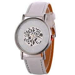 preiswerte Damenuhren-Xu™ Damen Armbanduhr Chinesisch Kreativ / Cool / Großes Ziffernblatt PU Band Minimalistisch / Skelett Schwarz / Weiß / Blau