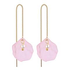 preiswerte Ohrringe-Damen Lang Tropfen-Ohrringe - Künstliche Perle Stilvoll, Retro Grün / Leicht Rosa / Dunkellila Für Alltag / Verabredung