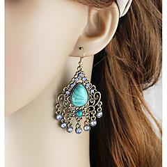 preiswerte Ohrringe-Damen Lang Tropfen-Ohrringe - Birne Grundlegend, Modisch Grün / Blau Für Alltag / Verabredung