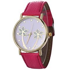 preiswerte Damenuhren-Xu™ Damen Armbanduhr Chinesisch Kreativ / Baum / Armbanduhren für den Alltag PU Band Blätter / Modisch Schwarz / Weiß / Blau