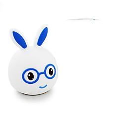 abordables Lámparas LED Novedosas-1pc Rabbit Luz de noche LED USB Para Niños / Recargable / Regulable 5 V