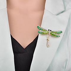 お買い得  ブローチ-女性用 3D ブローチ  -  カトゥーン, 欧風 ブローチ グリーン 用途 パーティー / オフィス&キャリア