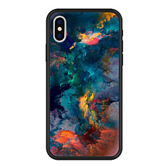 お買い得  iPhone 5S/SE ケース-ケース 用途 Apple iPhone X / iPhone 8 Plus パターン バックカバー 風景 ハード アクリル のために iPhone X / iPhone 8 Plus / iPhone 8