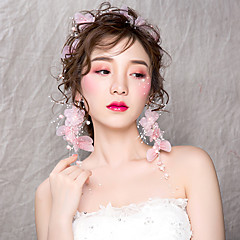 abordables Joyería para el Cabello-Mujer Cruzado Cadena para el Pelo - Simple / Coreano Floral