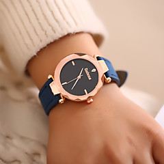 preiswerte Damenuhren-Damen Armbanduhr Quartz Armbanduhren für den Alltag Leder Band Analog Modisch Schwarz / Blau / Grün - Grün Rosa Khaki