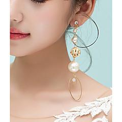 abordables Pendientes-Mujer Diamante sintético Pendientes con clip - Tropical, Elegante Dorado Para Fiesta / Fiesta / Noche
