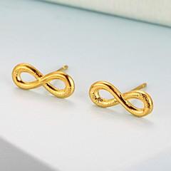 preiswerte Ohrringe-Damen Stilvoll Ohrstecker / Ohrring - vergoldet Unendlichkeit Romantisch, Beiläufig / sportlich Gold Für Normal / Alltag