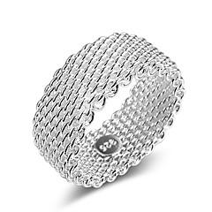 preiswerte Ringe-Paar Lasso Ring - Stilvoll, Klassisch 6 / 7 / 8 Silber Für Alltag