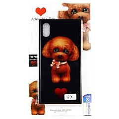 Недорогие Кейсы для iPhone 7 Plus-Кейс для Назначение Apple iPhone X С узором Кейс на заднюю панель С собакой Твердый Закаленное стекло для iPhone X / iPhone 8 Pluss / iPhone 8