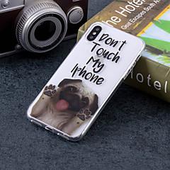 Недорогие Кейсы для iPhone 6 Plus-Кейс для Назначение Apple iPhone X / iPhone 8 Plus IMD / С узором Кейс на заднюю панель С собакой / Слова / выражения Мягкий ТПУ для iPhone X / iPhone 8 Pluss / iPhone 8