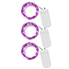 お買い得  LED ストリングライト-1m ストリングライト 10 LED SMD 0603 温白色 / ホワイト / ブルー 防水 / クリエイティブ / 装飾用 4 V 3本