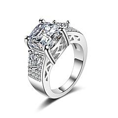 preiswerte Ringe-Damen Kubikzirkonia Stapel Bandring - Romantisch, Modisch 6 / 7 / 8 Weiß Für Geschenk / Valentinstag