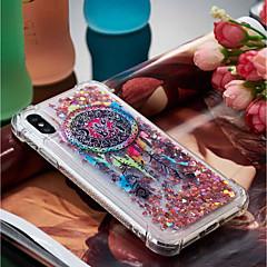 Недорогие Кейсы для iPhone 7 Plus-Кейс для Назначение Apple iPhone X / iPhone 8 Plus Защита от удара / Движущаяся жидкость / Прозрачный Кейс на заднюю панель Ловец снов Мягкий ТПУ для iPhone X / iPhone 8 Pluss / iPhone 8