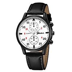 preiswerte Damenuhren-Geneva Damen Armbanduhr Quartz Schwarz / Braun / Marinenblau Neues Design Armbanduhren für den Alltag Cool Analog Freizeit Modisch - Schwarz / Weiß Weiß / Braun Silber / Blau Ein Jahr