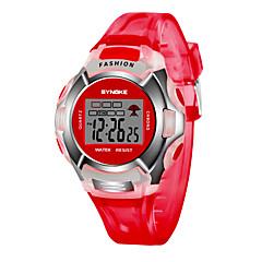 お買い得  メンズ腕時計-SYNOKE 男性用 / 女性用 デジタルウォッチ カレンダー / クロノグラフ付き / 耐水 PU バンド ファッション ブラック / ブルー / レッド