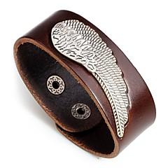 preiswerte Armbänder-Herrn Stilvoll Armreife - Leder Modisch Armbänder Schwarz / Orange / Kaffee Für Geschenk / Karnival